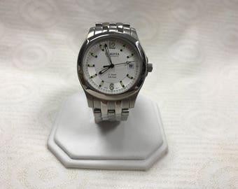 a107 Original Dakota Silver Tone 330 Feet 21 Jewels Automatic Men's Wrist Watch