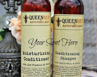 YOU • CHOOSE • SCENT || Conditioning Shampoo & Moisturizing Conditioner Set • 8 Ounce {Scents A-F}
