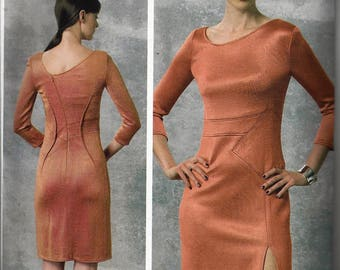 Oop RALPH RUCCI for Vogue Pattern #v1458~American Designer~Misses Sz 4-12 or 12-20~Misses' Asymmetrical Seam-Detail Dress~New