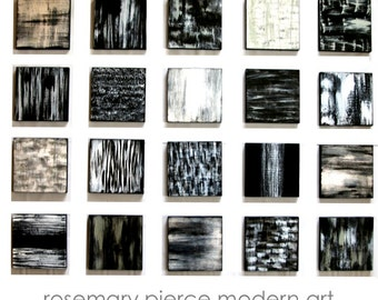 Black and White Art | Wall Sculpture | Wood Wall Art | Abstract Painting | Modern Wall Decor | Neutral Wall Art | Rosemary Pierce Modern Art