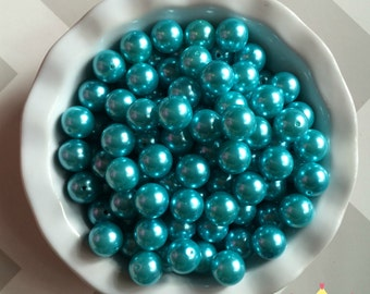 20mm Light Aqua Turquoise Chunky Beads Bubble Gum Pearls (A33)