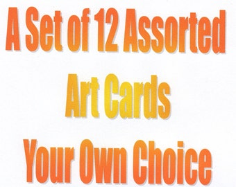 12 Art Cards Your Choice of Cards Watercolor Cards Handmade Cards Blank Notecards Stationery gift for her Birthday Cards