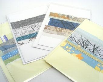 Vierge carte de voeux - cartes OOAK - arbre design cartes de voeux - carte de voeux jeu - cartes vierges de quatre Pack - n'importe quel occasion cartes