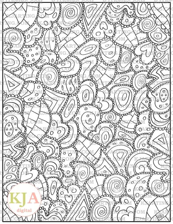 Line Art Zendoodle : Eclectic geometrics zendoodle line art printable zen
