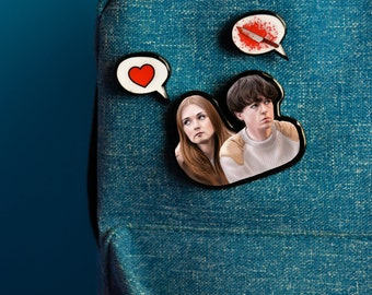 The End Of The F***ing World pin brooch (3 pins)