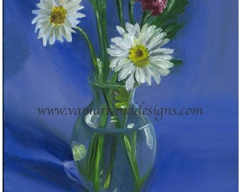 Original Oil Painting Flower Study Still Life - 11 inches x 14 inches