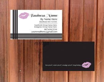 Lipsense Business Card, Lipsense Distributor, Lipsense Marketing, Lipstick Business Card, Makeup Business Card, Beauty Marketing, Makeup