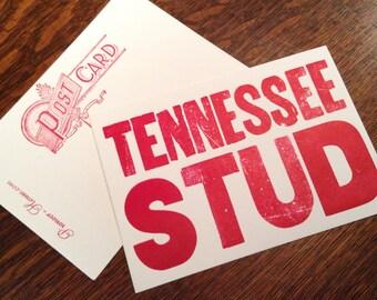 TENNESSEE STUD 6 hand printed letterpress mini prints post cards