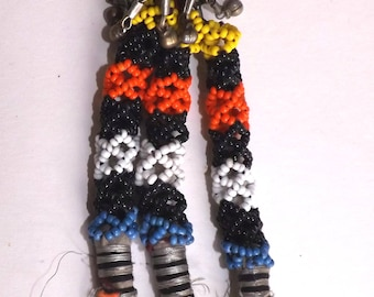 Single 28cm Long Turkmen Beaded Uzbek Style Tassel for Tribal Fusion Bellydance Costuming TA1