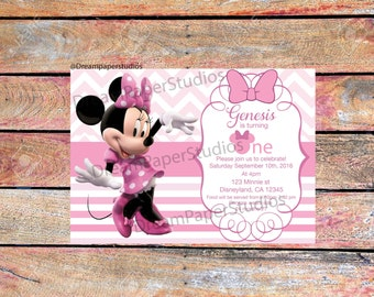 Minnie Mouse Digital Invitation