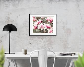 8x10, Springtime Flowers, Wall Art, DIGITAL DOWNLOAD, Digital Watercolor, Springtime