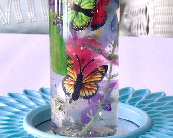 Sensory Bottles Flowers  & Butterflies