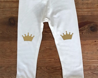 Crown Knee Patch Toddler/Baby Leggings