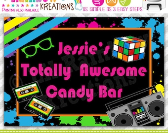 PSIGN-389: DIY - Totally Awesome 80's Party Sign