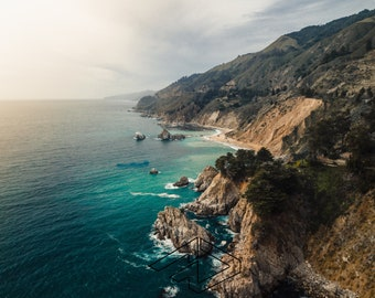 Big Sur Coast Aerial-Big Sur, California, Ready to hang, wrapped canvas, metal or print photo