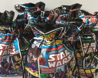 Star Wars Party Favor Bags, (set of 10), Star Wars Birthday Gift Bags, Star Wars Birthday Party Favors, Star Wars Birthday Party Decorations