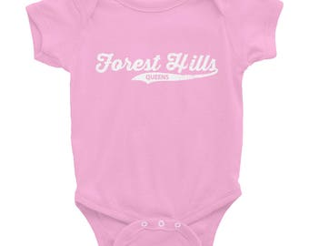 Forest Hills Queens Retro Queens Vintage NYC Infant Bodysuit