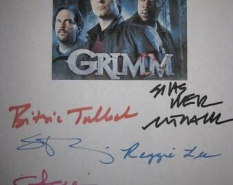 Grimm Signed TV Script Screenplay X9 Autograph David Giuntoli Russell Hornsby Elizabeth Elizabeth Tulloch Silas Weir Mitchell Roiz  Grim