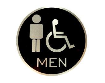 Aluminium Toilet Door Sign, Metal WC Plaque, Cabin Sign, Restroom Sign, WC Plate, Toilet Plate, Toilet Plaque, Bathroom, Toilet Room