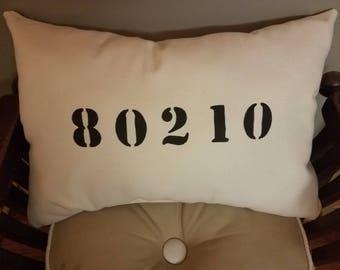 Custom Zip Code Pillow