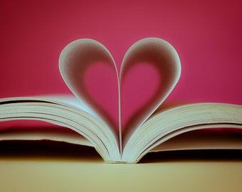 Digital Download Heart Book photo Fine Art Photography Instant Download