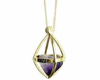 Geben Sie Liebe Halskette