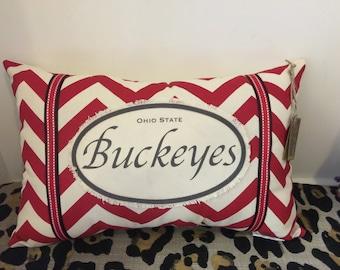 Ohio State Buckeyes Pillow
