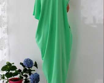 Green Maxi dress/ Caftan/ Kaftan/ Oversized dress/ Summer maxi dress/ Casual dress/ Summer dress/ Beach dress/ Kaftan
