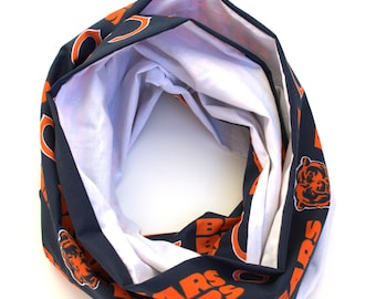 Monogrammable Chicago Bears Football Infinity Scarf, Only store to offer these!