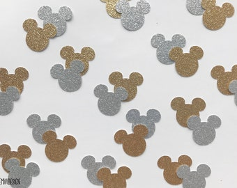 Mickey Mouse Confetti, Two Colours, Two Glitters, Mickey party, Minnie mouse confetti, minnie party decor