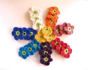 3 flower hook (4 cm) - free choice between 8 colors