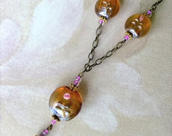 Handmade lampworked necklace set