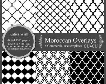 Moroccan Overlays Digital Kit Commercial Use PSD and PNG templates - Instant Download