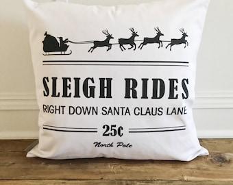 Sleigh Rides Pillow Cover