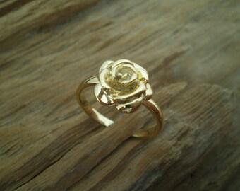 Silver rose ring,rose ring,silber rosen,tiny rose