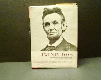 Twenty Days,Assassination of Abraham Lincoln -following 20 days- 1965 Rare Book