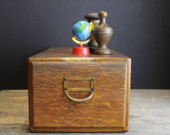 Vintage Wood Dovetailed Box // Browne Morse And Company // Primitive Rustic
