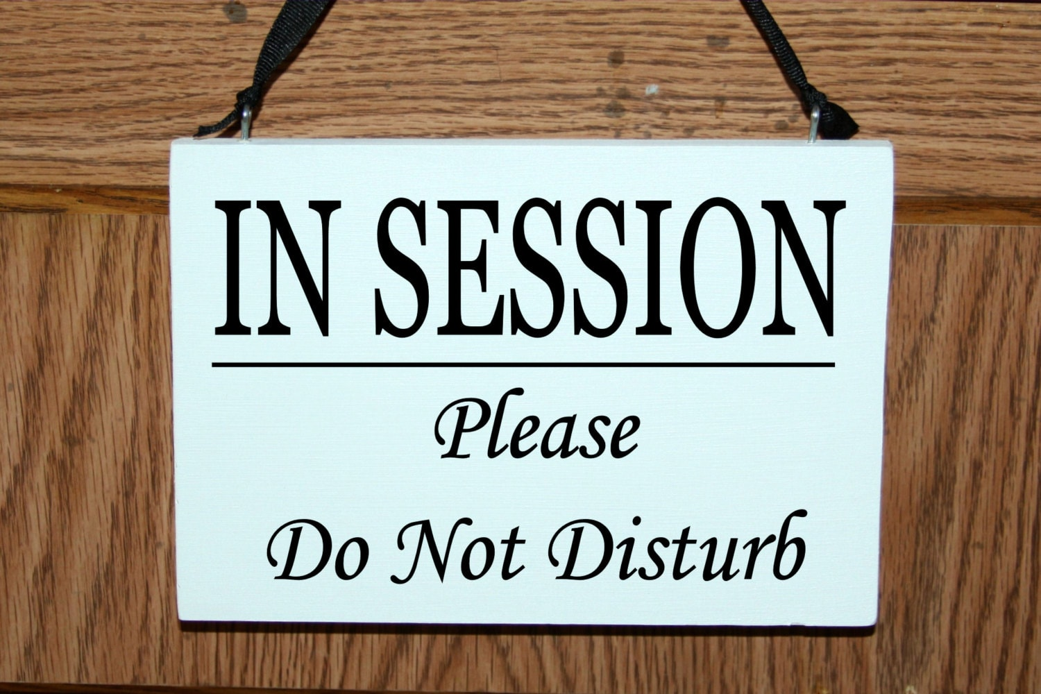 in session sign for door