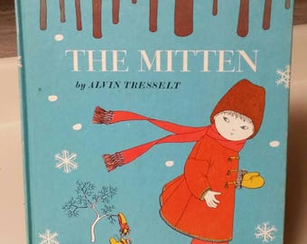"""Weekly Reader Book """"The Mitten"""" by Alvin Tresselt/An Old Ukrainian Folktale/1964 Collectible Book/Christmas Gift/Classroom Tool/Folktales"""