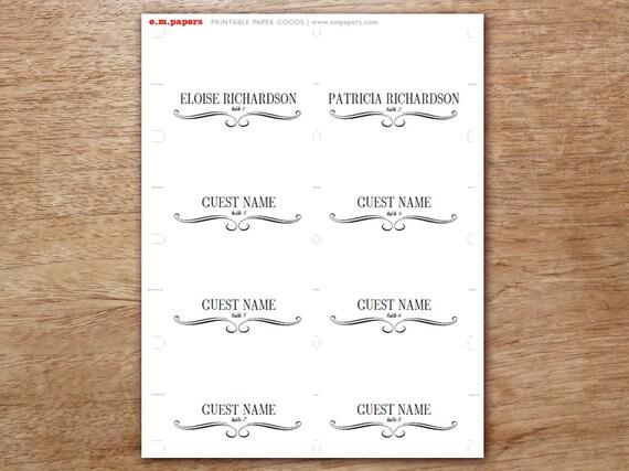 Druckbare Tischkarten Tischkarte Vorlage Escort Karten