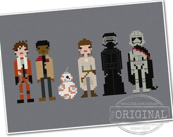 Star Wars - The Force Awakens - The *Original* Pixel People - PDF Cross-stitch Pattern - INSTANT DOWNLOAD