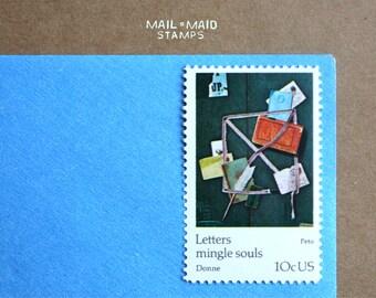 Letters Mingle Souls - Peto || Set of 10 unused vintage postage stamps