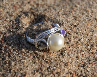 The Hunger Games District 6 Inspired- Silver Wire Wrapped Ring