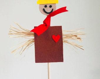 Scarecrow, Felt Scarecrow, Felt Pretend Play, Kids Play, Felt Garden Scarecrow