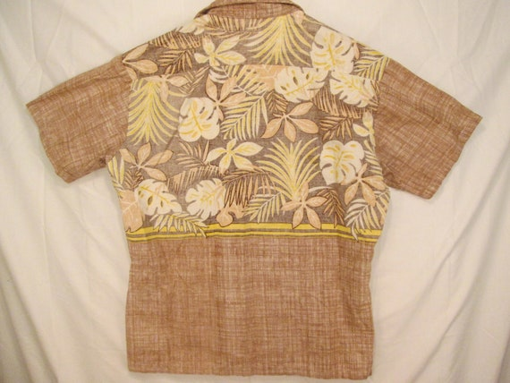 pullover 7os vintage print reverse Hawaiian size chest Pacific Ocean breast single mens pocket print M flowers Sunwear matched engineered IYnBpndWq