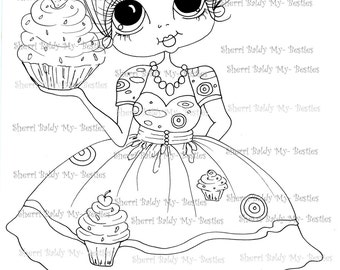 INSTANT DOWNLOAD Digital Digi Stamps Big Eye Big Head Dolls Digi  My Besties IMG152 2 By Sherri Baldy