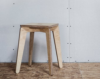 Plywood stool - compact and cute