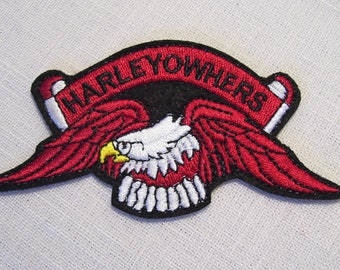 Bird Eagle motorcycle Raptor - Patch embroidered patch Thermo * 6 x 11 cm *.