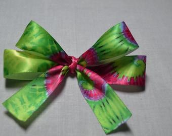 Green Tye Dye Bows