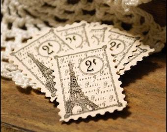 Paris 2 cent Stamp - Eiffel Tower  Set of 6